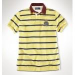 Camisa Polo Amarela Listrada Stripe Ralph Lauren - Cod 0054
